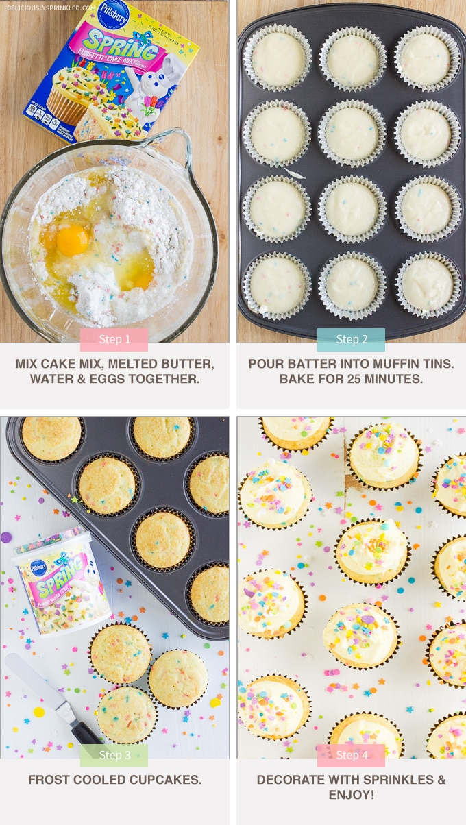 Funfetti Cupcakes Deliciously Sprinkled