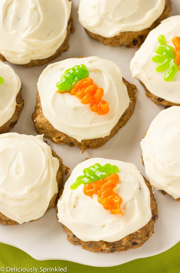 Frosted Carrot Cake Cookies