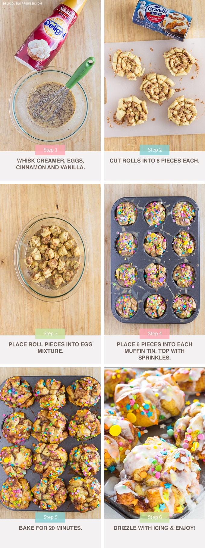 FUNFETTI FRENCH TOAST MUFFINS