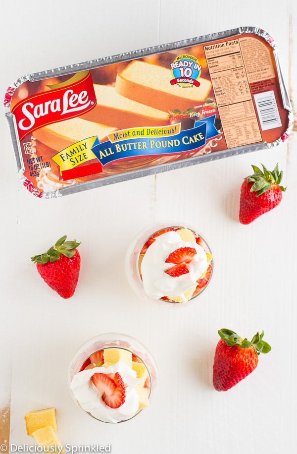 Strawberry Shortcake Trifle Cups