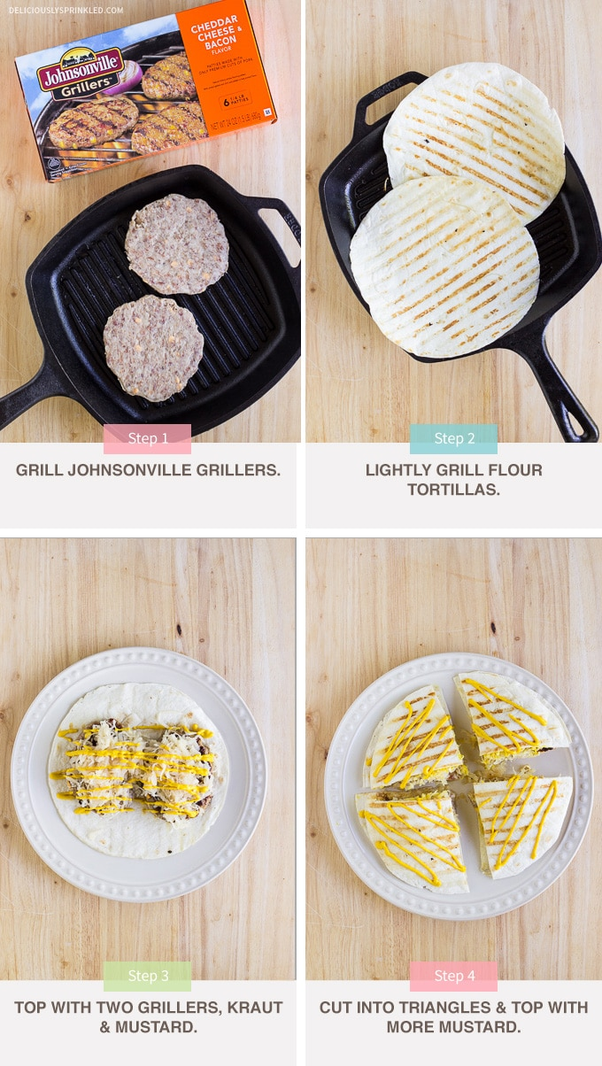 how to cook quesadillas on the grill