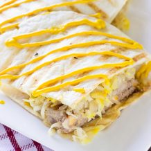 Cheddar Cheese and Bacon Brat Quesadillas
