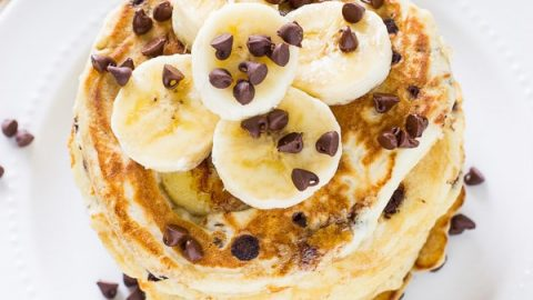 Banana Chocolate Chip Pancakes Deliciously Sprinkled