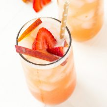 Strawberry Peach Green Iced Tea
