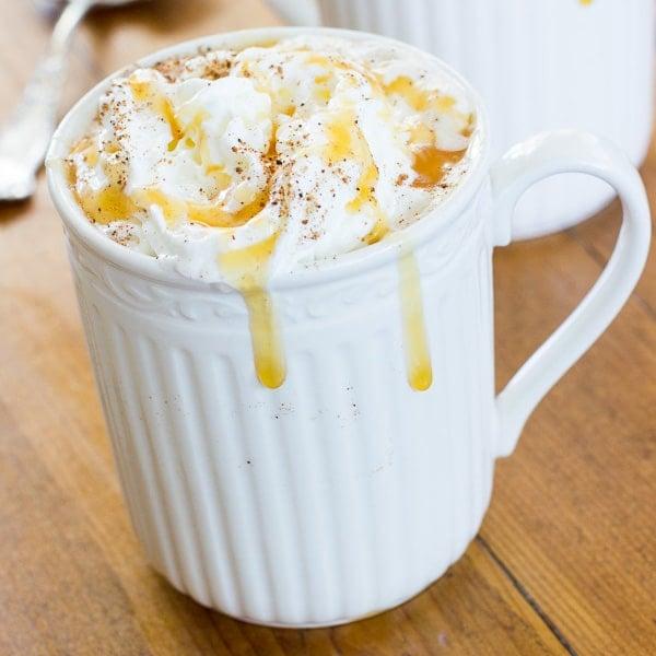 Caramel Pumpkin Spice Latte | Deliciously Sprinkled