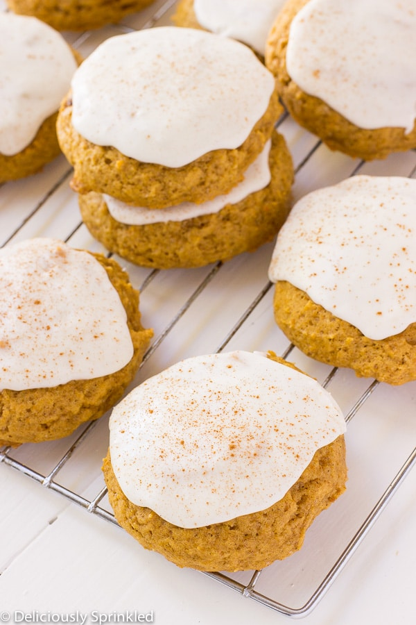 Frosted Pumpkin Cookies