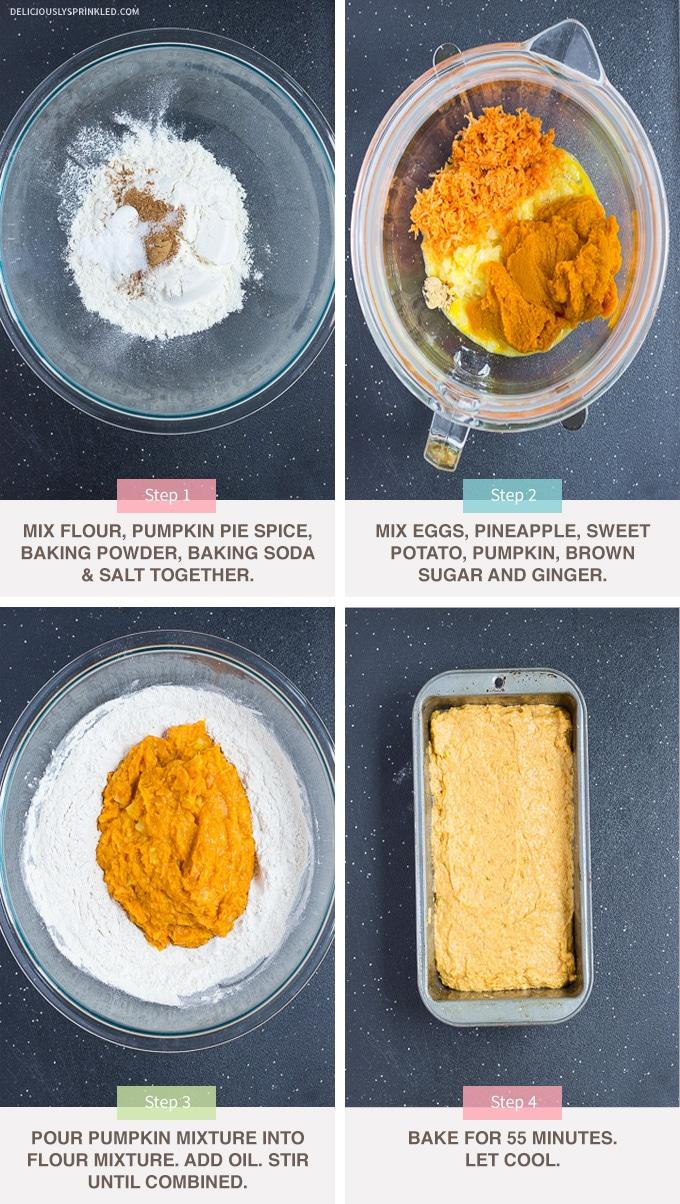 pumpkin sweet potato bread