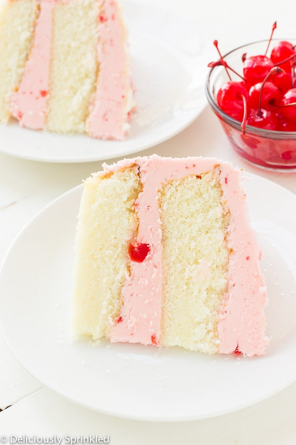 Cherry Almond Cake | Deliciously Sprinkled