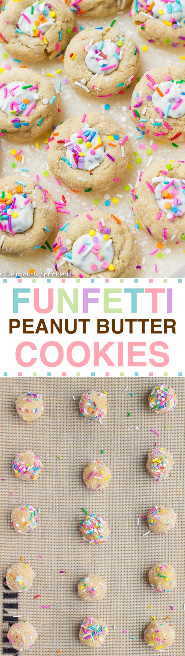 FUNFETTI PEANUT BUTTER COOKIE RECIPE