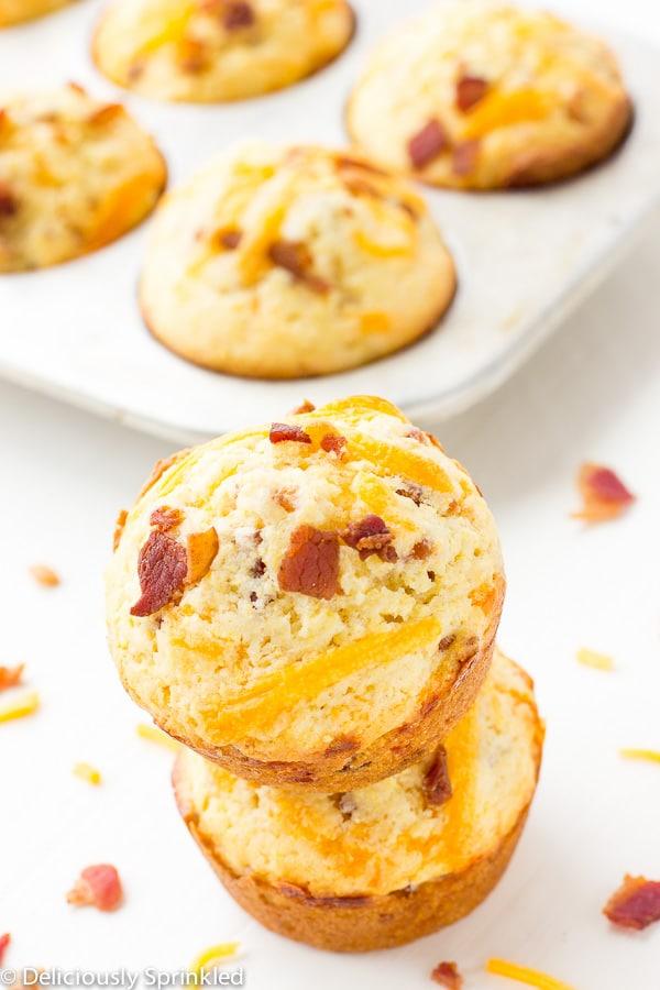 Cheesy Bacon Cornbread Muffins