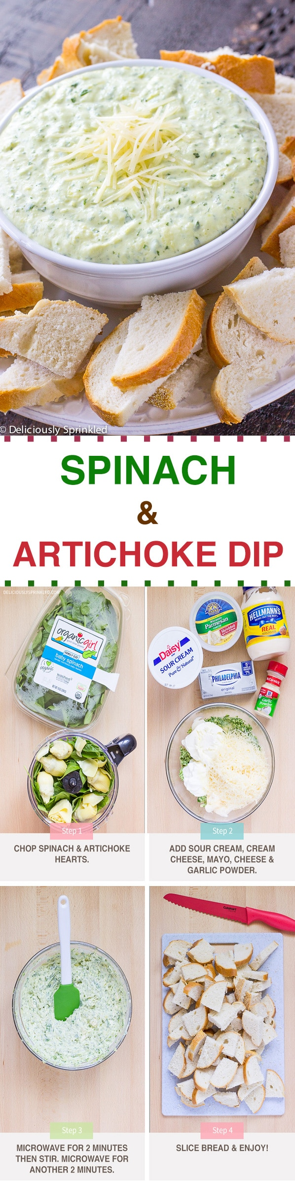 QUICK AND EASY SPINACH AND ARTICHOKE DIP RECIPE