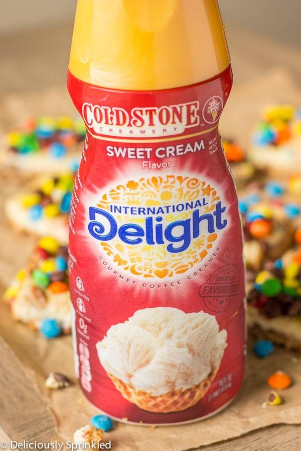 M&M Cookie Bars- easy recipe using International Delight Creamer