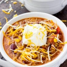 Easy Beef Chili-Classic chili that is easy to make in the slow cooker.