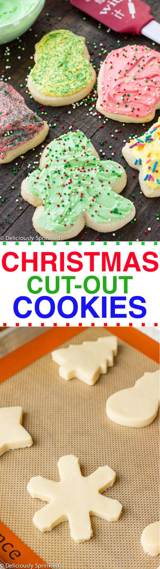 Christmas Cut Out Cookies Deliciously Sprinkled