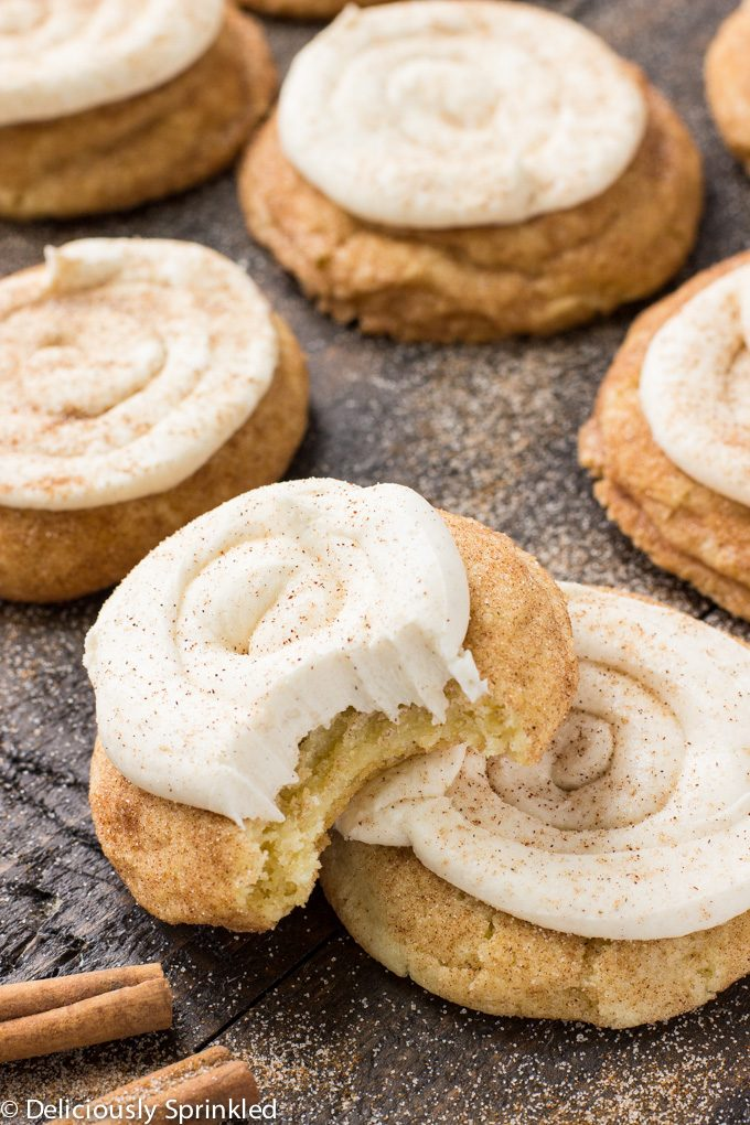 Eggnog Snickerdoodle Cookies Recipe deliciouslysprinkled.com