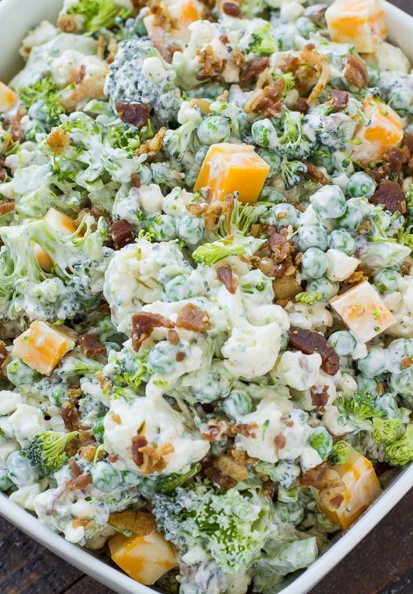 Easy Bacon Ranch Broccoli Salad Recipe