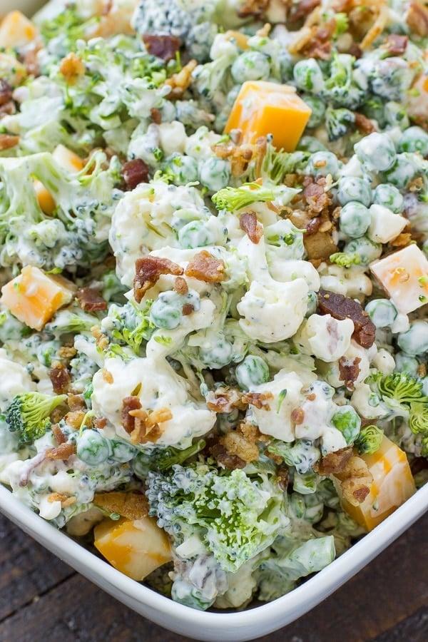 Bacon Ranch Broccoli Salad