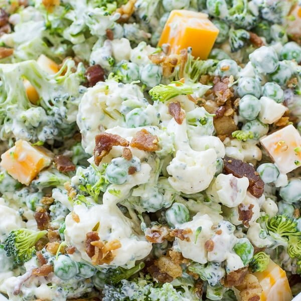 Bacon Ranch Broccoli Salad Recipe