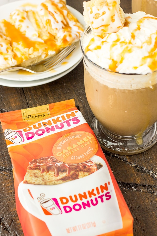 Caramel Coffee Cake Latte Recipe Dunkin Donuts Coffee