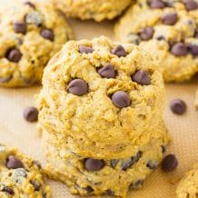 Pumpkin Chocolate Chip Cookies Recipe-easy Thanksgiving dessert