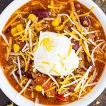 EASY BEEF CHILI MADE IN THE SLOW COOKER