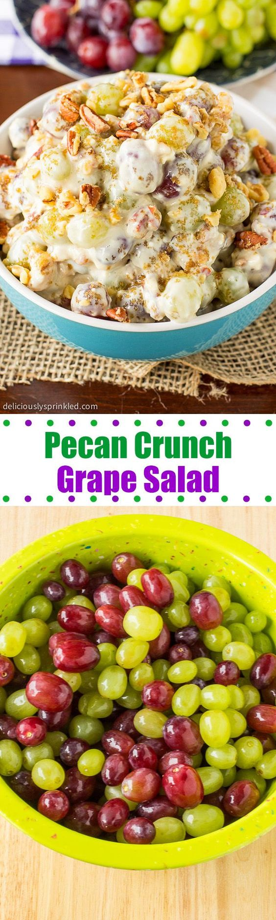 EASY PECAN CRUNCH GRAPE SALAD RECIPE