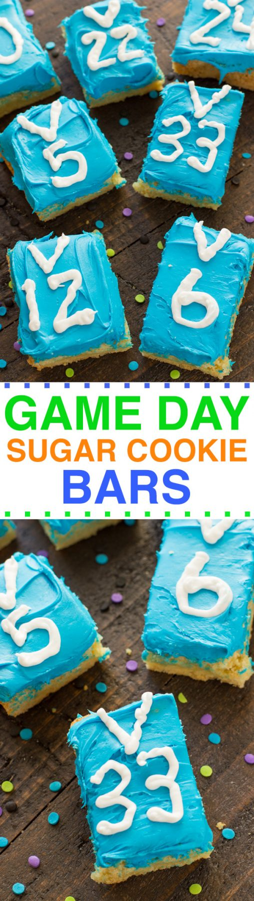GAME DAY SUGAR COOKIE BARS RECIPE