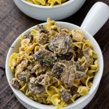 This Instant Pot Hamburger Stroganoff is quick, easy, and so delicious! Full of egg noodles, ground hamburger, mushrooms, and spices! Ready in 30 mins! deliciouslysprinkled.com #instantpot #dinner