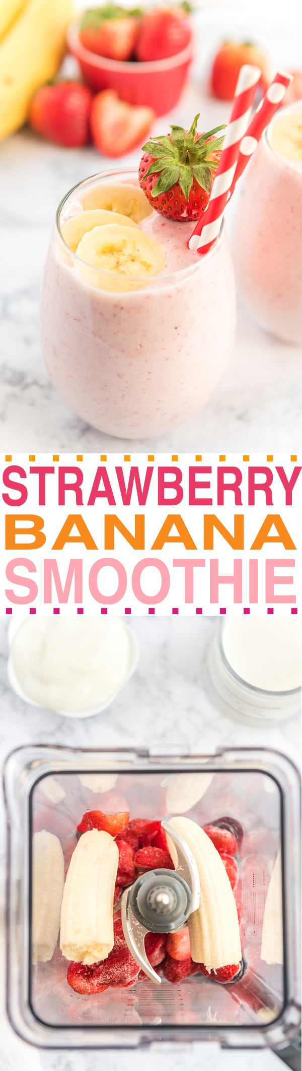 THE BEST STRAWBERRY BANANA SMOOTHIE RECIPE