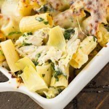Easy Spinach & Artichoke Pasta Casserole