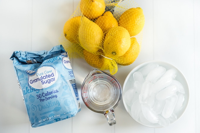 Homemade Lemonade Ingredients
