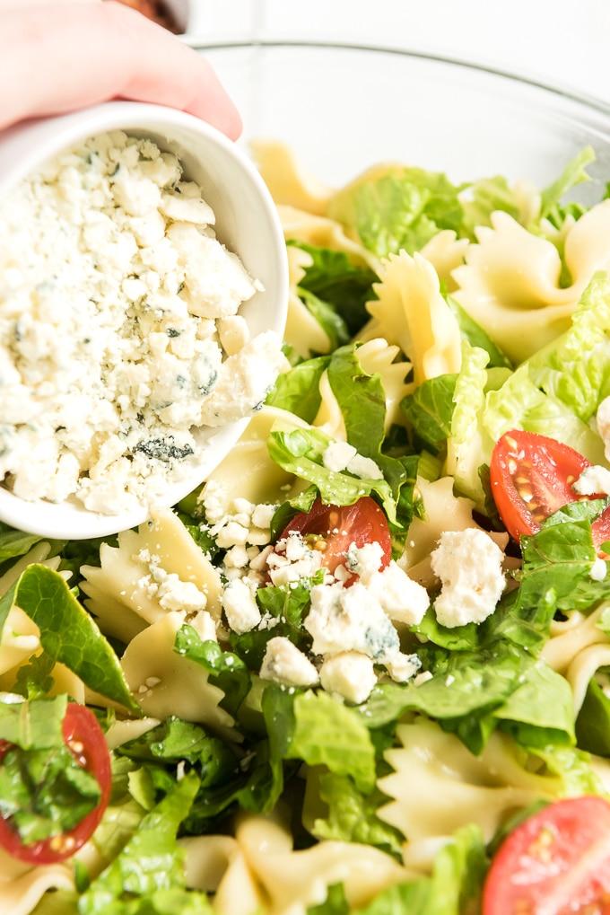 BLT pasta salad add cheese