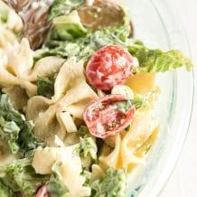BLT pasta salad mixed together