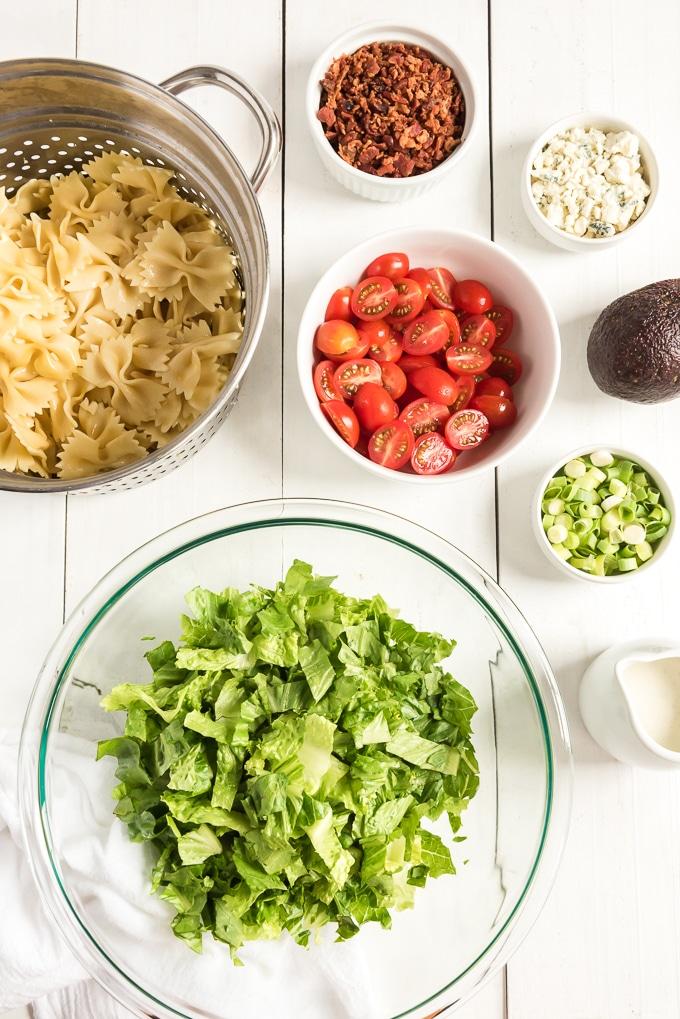 BLT pasta salad ingredients