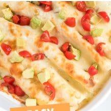 easy chicken enchiladas pin image collage