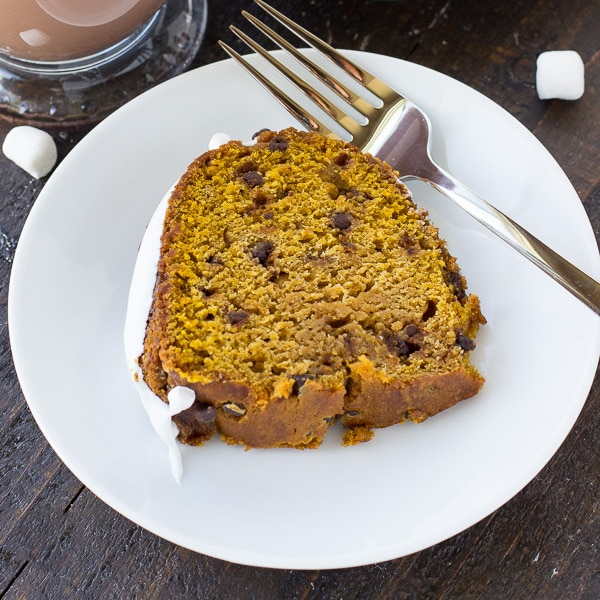 Hot Chocolate Pumpkin Cake