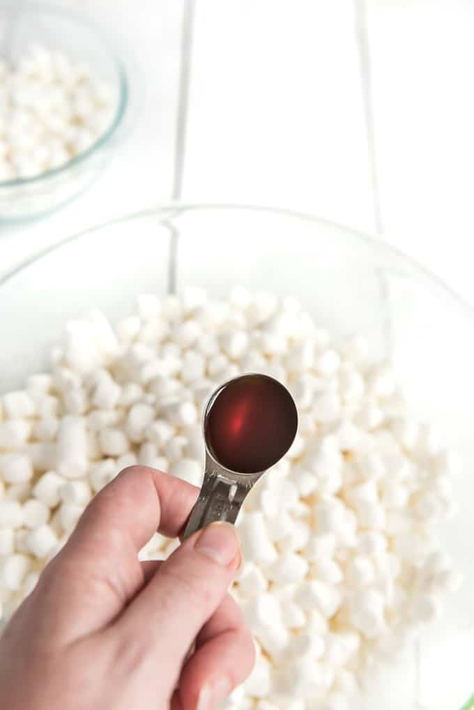 add vanilla to rice krispie treats