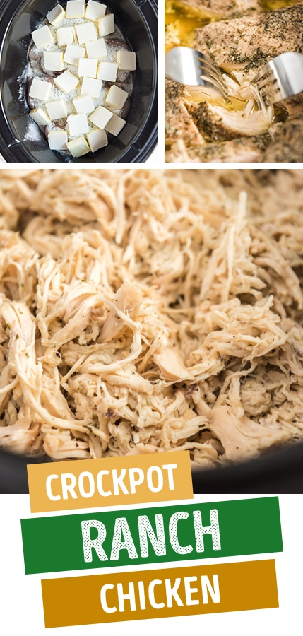 crockpot ranch chicken pinterest image