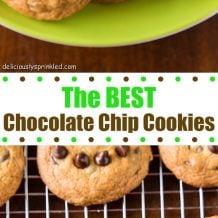 homemade chocolate chip cookies pinterest image