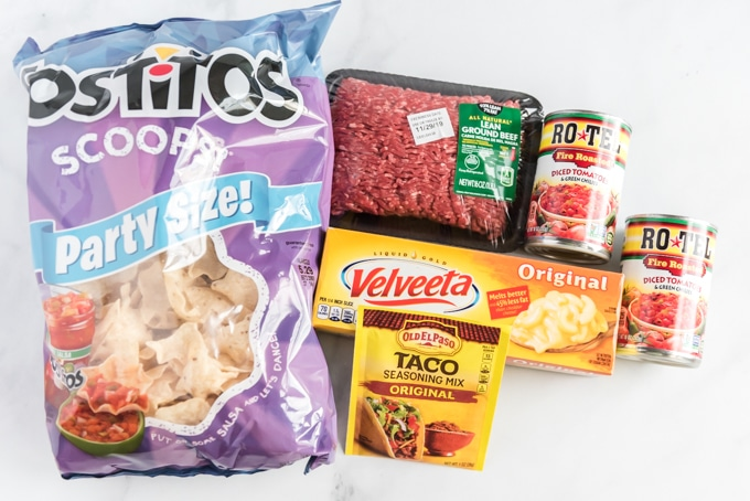 ingredients for queso dip