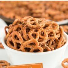 pinterest image of easy ranch pretzels