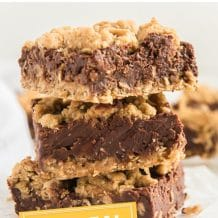 collage images with text that reads oatmeal fudge bars