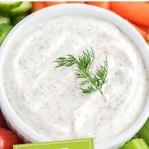 Best Veggie Dill Dip Recipe
